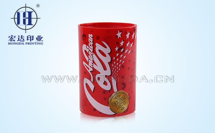 可乐logo图案热转印效果图