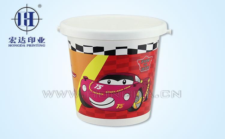 卡通赛车图水桶热转印效果图