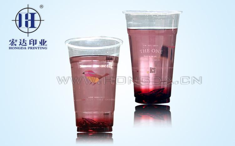 奶茶一次性杯热转印效果图