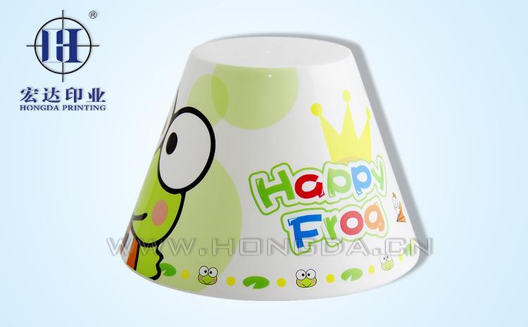 卡通青蛙灯罩热转印效果图