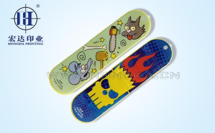 折叠玩具滑板热转印膜效果图