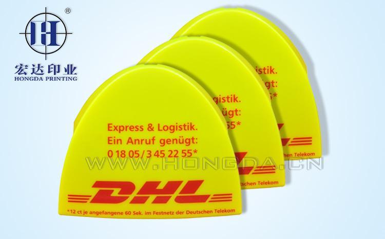 DHL商标热转印效果图