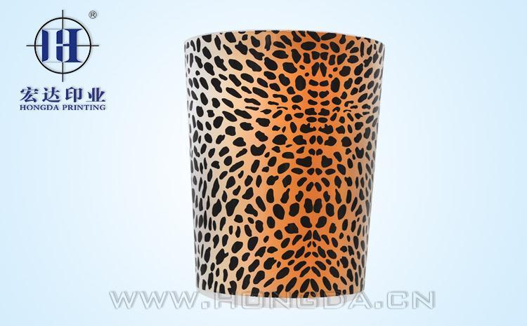豹纹垃圾桶热转印效果图
