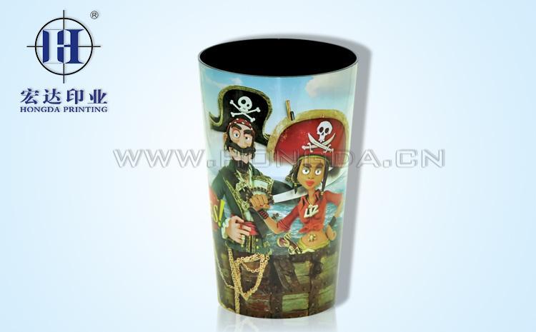 卡通海盗杯子热转印效果图