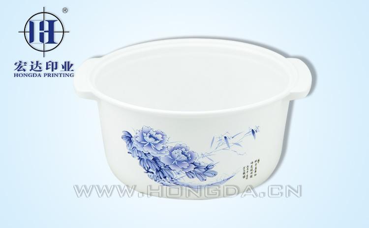 蓝玫瑰煲汤锅热转印效果图