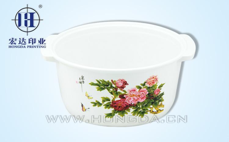 红花煲汤锅热转印效果图