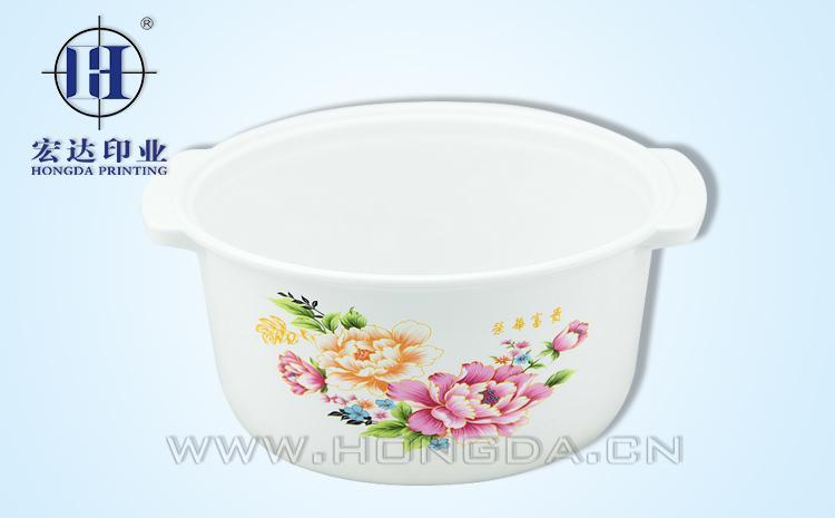 玫瑰花煲汤锅热转印效果图
