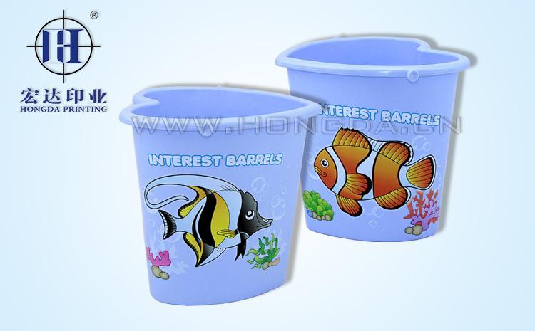 热带鱼图水桶热转印效果图