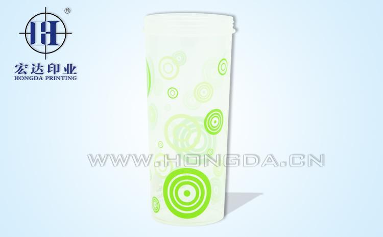 圆圈图案饮水杯热转印效果图
