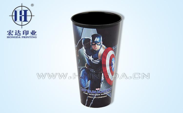 美国队长杯子热转印效果图