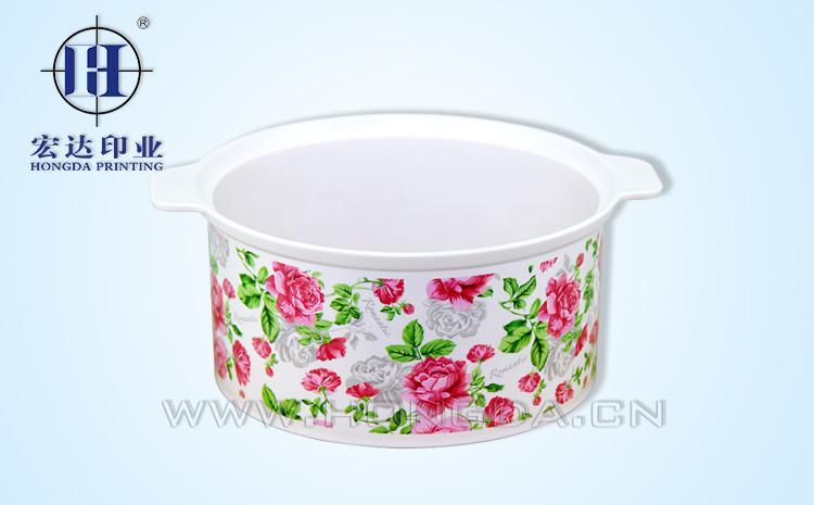 玫瑰花保温饭盒热转印效果图