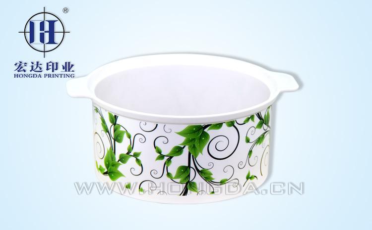 绿叶保温饭盒热转印效果图