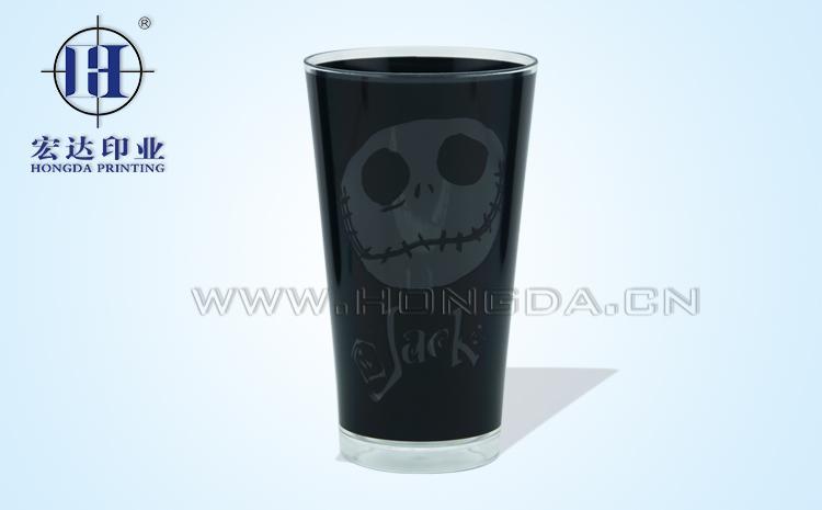 水杯黑色热转印效果图