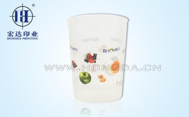 水果图案饮水杯热转印效果图