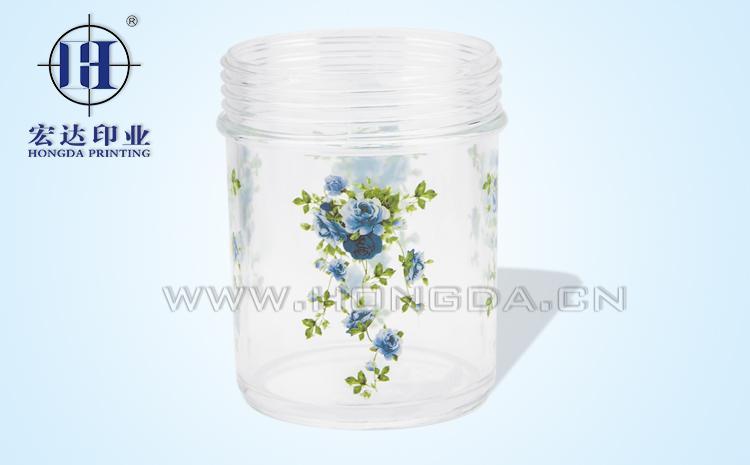蓝玫瑰保鲜罐热转印效果图