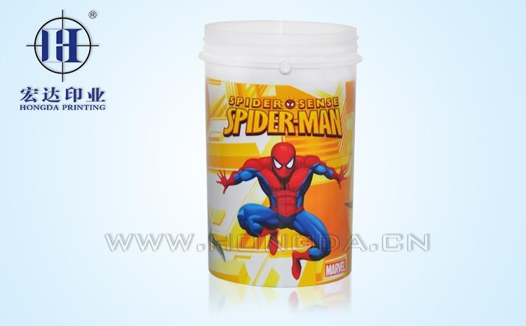 蜘蛛侠图案糖果罐热转印效果图