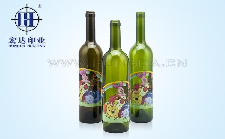 酒瓶玻璃热转印效果图