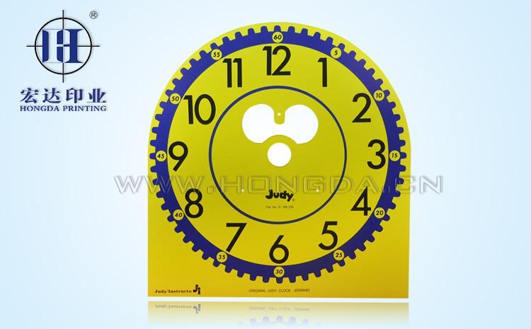 时钟板木材热转印效果图