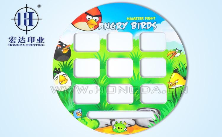 愤怒的小鸟游戏机热转印效果图