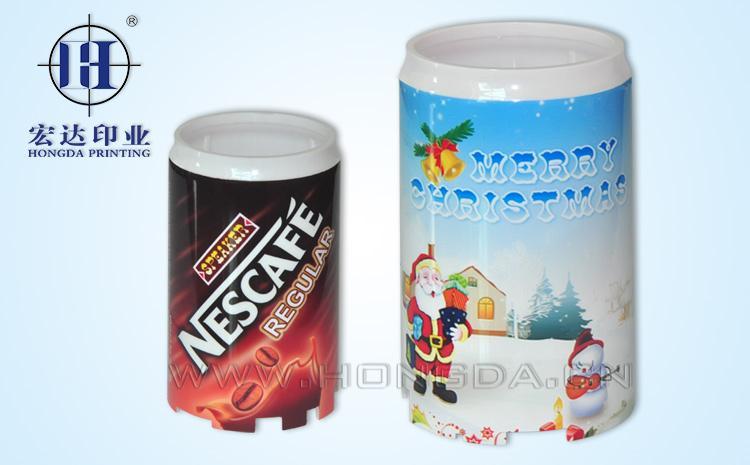 饮料罐小音箱热转印效果图