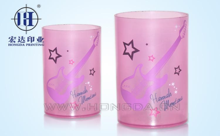 粉红音乐罐热转印效果图