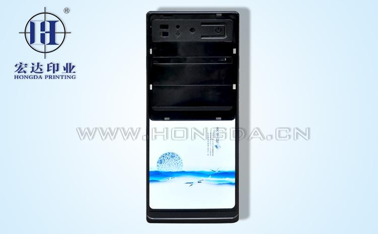 黑色电脑主机面板热转印效果图