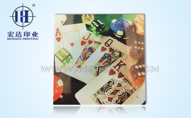 扑克牌表印热转印效果图