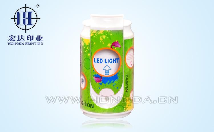 饮料罐led灯热转印加工效果图