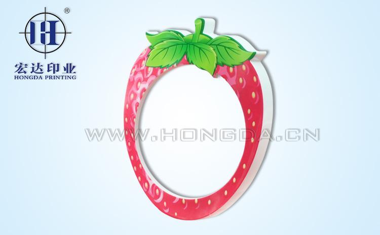 时钟草莓外环热转印效果图