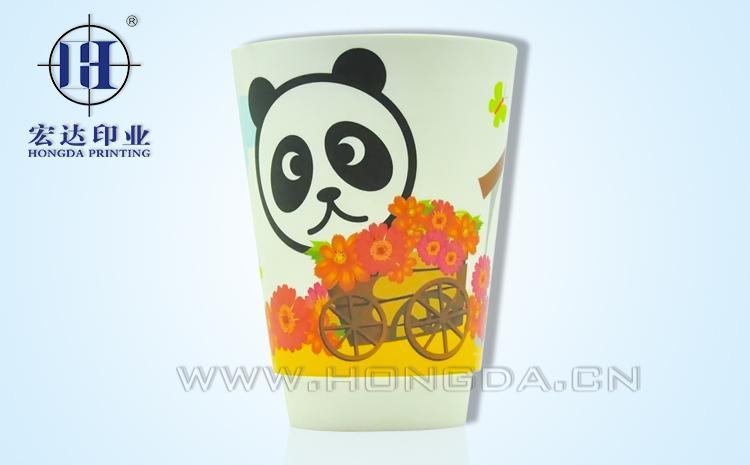 熊猫图案灯罩哑光热转印效果图