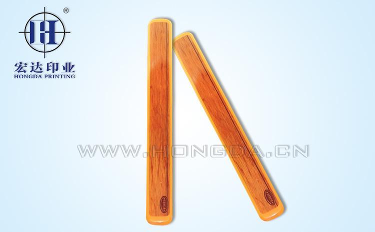 筷子盒木纹热转印效果图