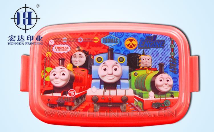 托马斯火车饭盒盖热转印效果图