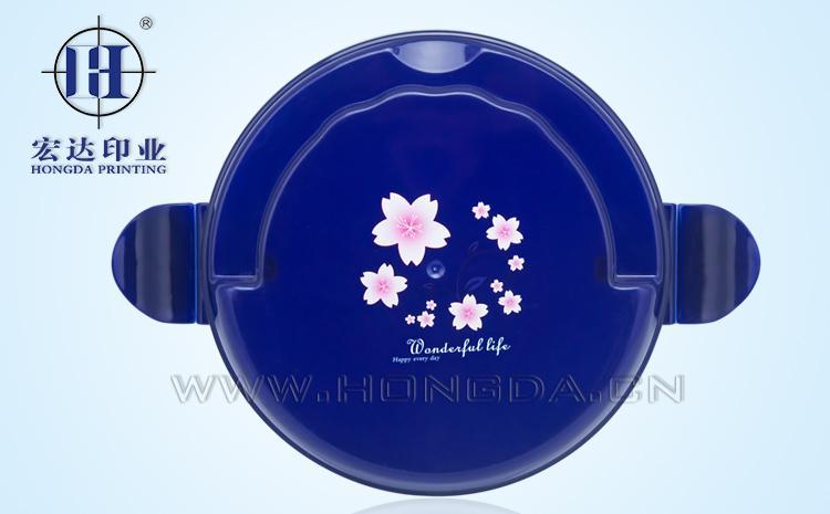 樱花图饭盒热转印效果图