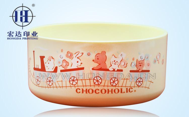 婴儿餐具饭盒热转印效果图