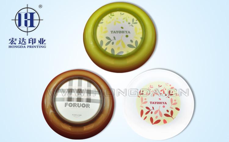 塑料碗盖热转印效果图