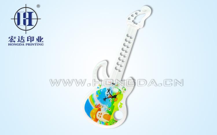 玩具电子吉他热转印效果图
