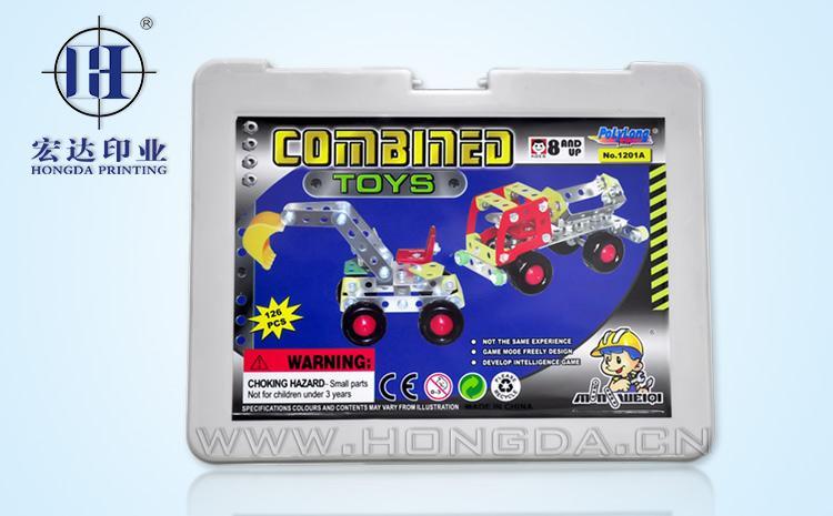 玩具车盒热转印效果图