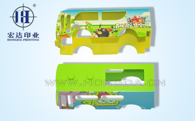 玩具巴士车金属热转印效果图