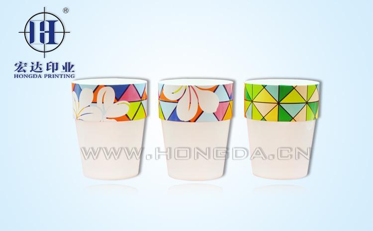 色块图案杯子热转印效果图
