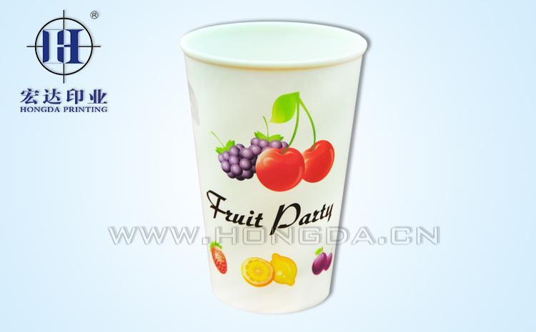 水果图案杯子热转印效果图