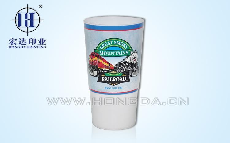企业logo水杯热转印效果图