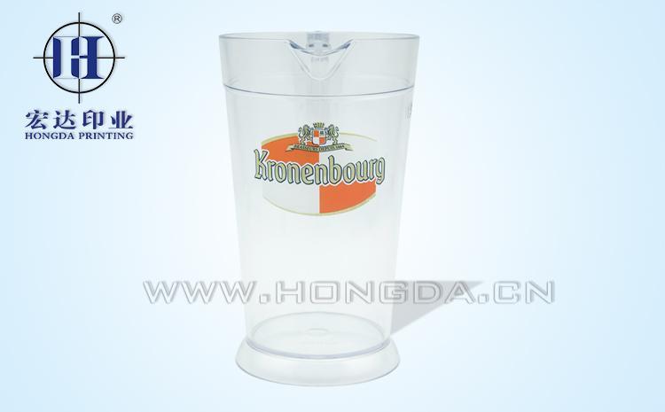 英文图案啤酒杯热转印效果图