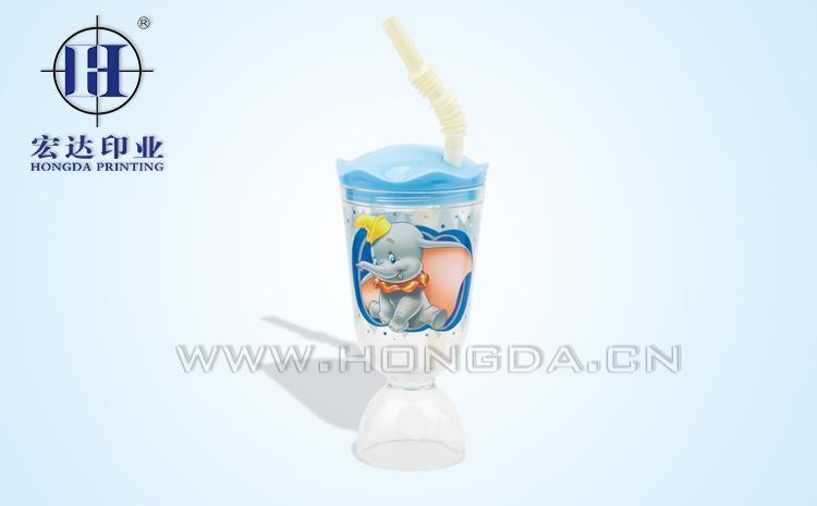 卡通果汁杯壳热转印效果图