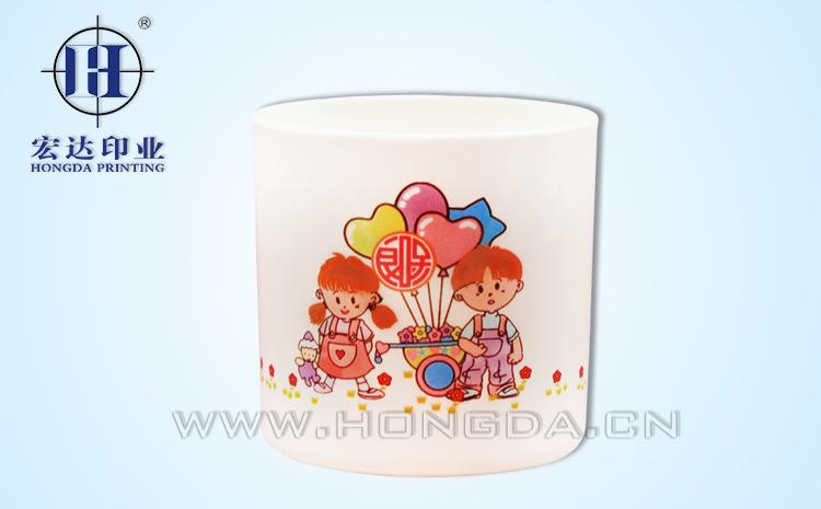 卡通儿童图案杯子热转印效果图
