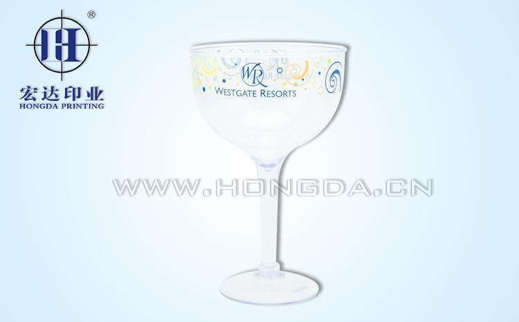 logo图案高脚水杯热转印效果图