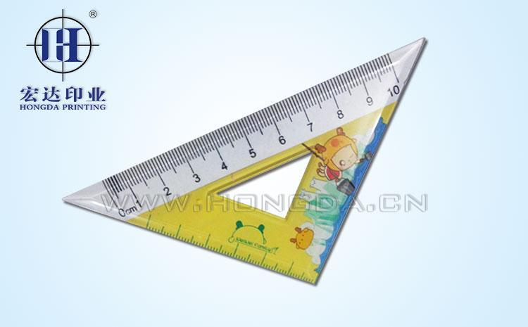 三角尺热转印加工效果图