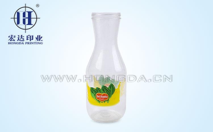 细颈塑料瓶热转印花膜效果图