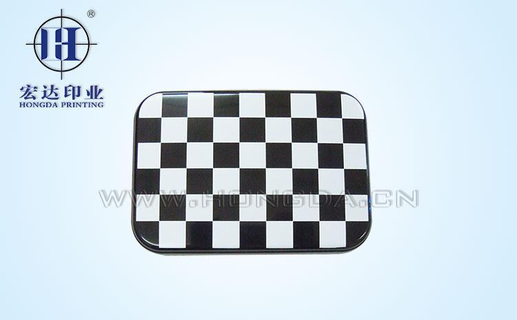 黑白棋盘热转印加工效果图