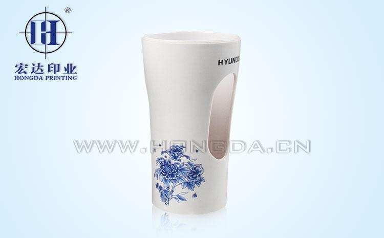 花纹饮水杯热转印效果图