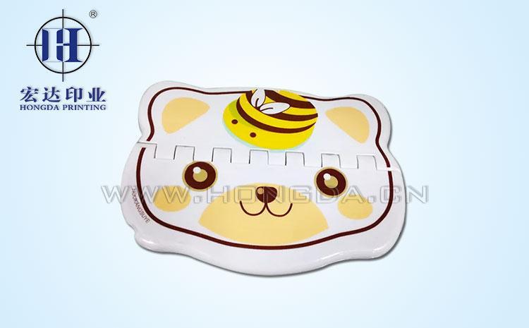 蜜蜂小熊图案热转印效果图